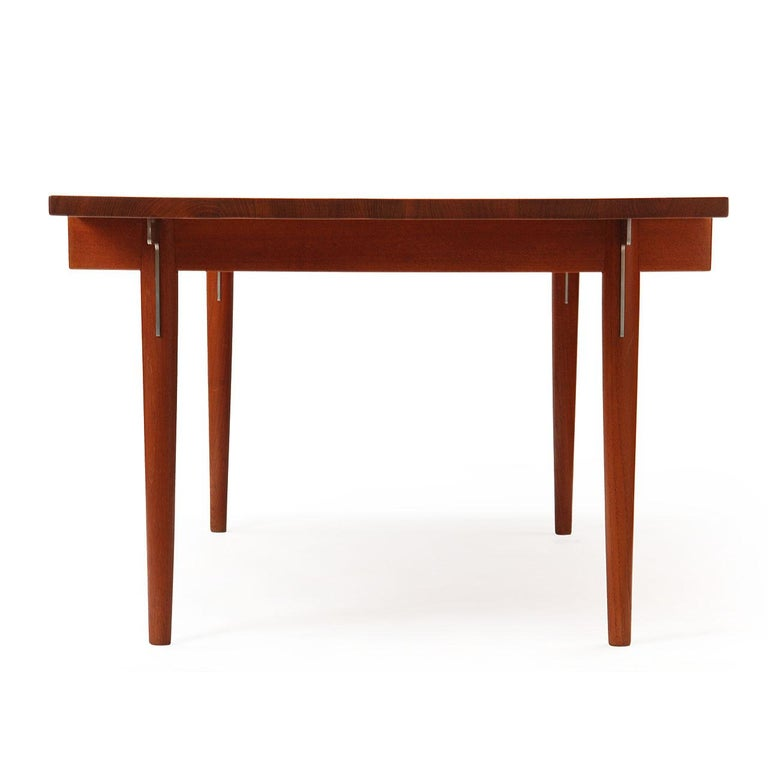 Mid-20th Century 1960s Danish Solid Teak Table / Desk by Hans Wegner for Johannes Hansen For Sale