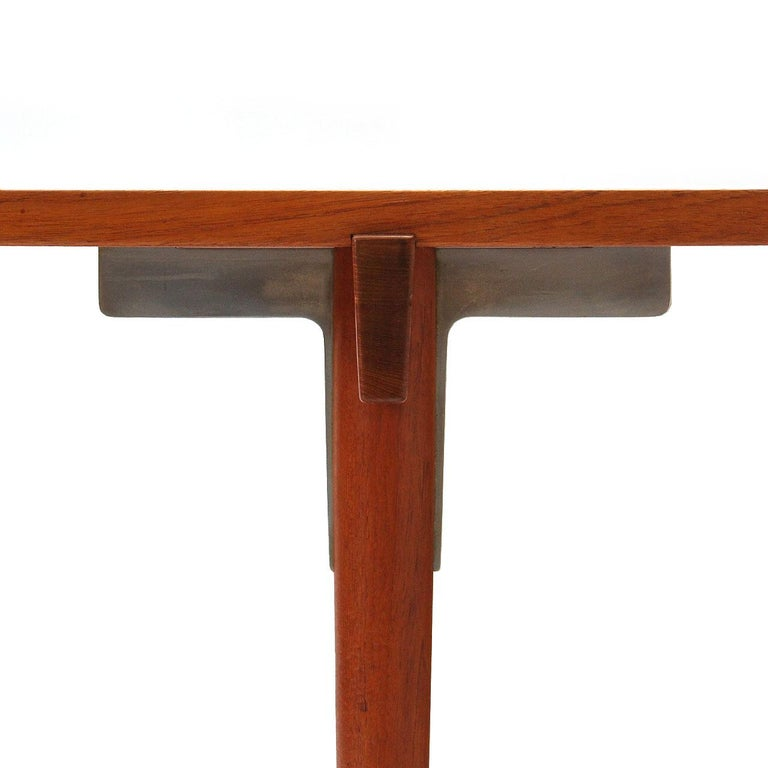 1960s Danish Solid Teak Table / Desk by Hans Wegner for Johannes Hansen For Sale 1
