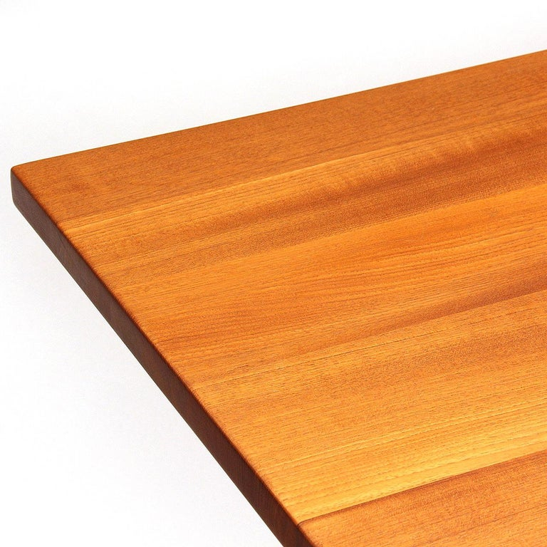1960s Danish Solid Teak Table / Desk by Hans Wegner for Johannes Hansen For Sale 2