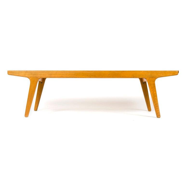 Mid-20th Century 1960s Danish Teak and Oak Reversible Bench For Sale