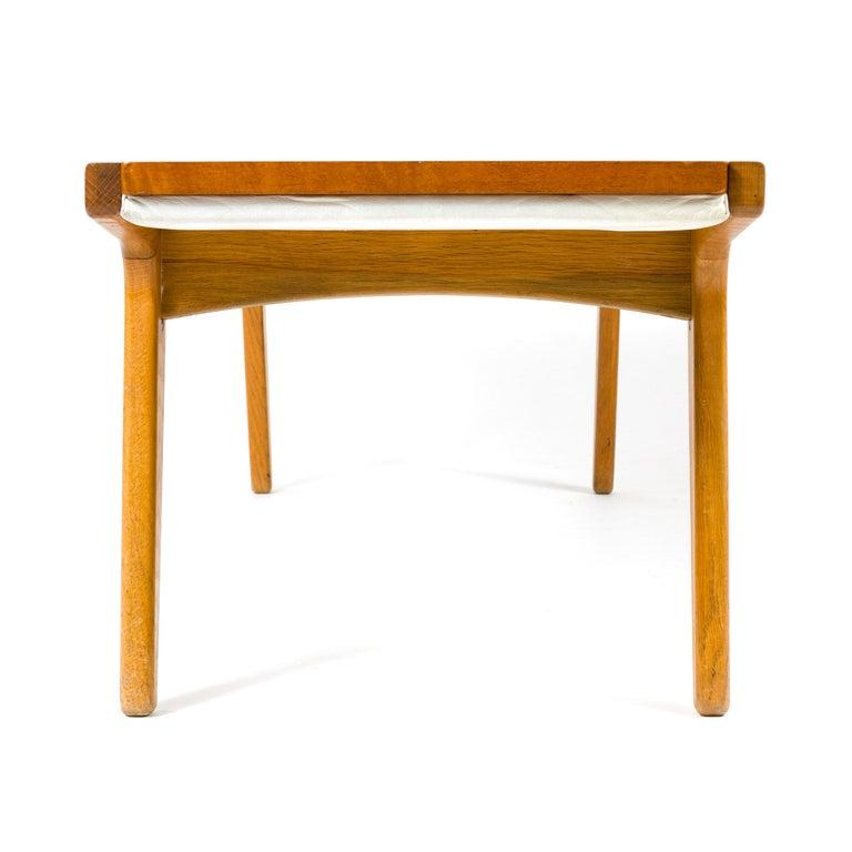 1960s Danish Teak and Oak Reversible Bench For Sale 2