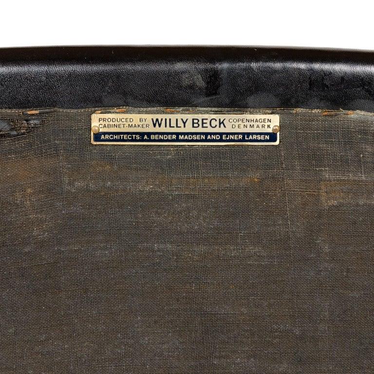 1960s Danish Teak Armchair by Ejner Larsen & Aksel Bender Madsen for Willy Beck For Sale 1