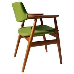 1960s Danish Teak Armchair / Desk Chair by Erik Kirkegaard