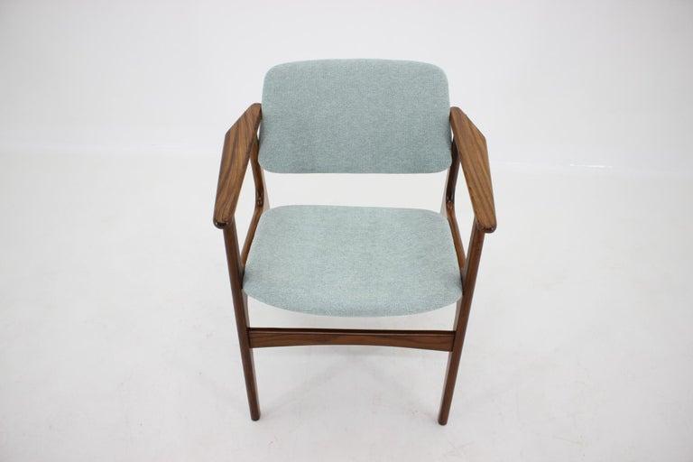 Fabric 1960s Danish Teak Armchair