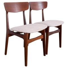 1960s Danish Teak Chairs by Glostrup, a Pair