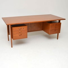 1960s Danish Teak Desk by Kai Kristiansen