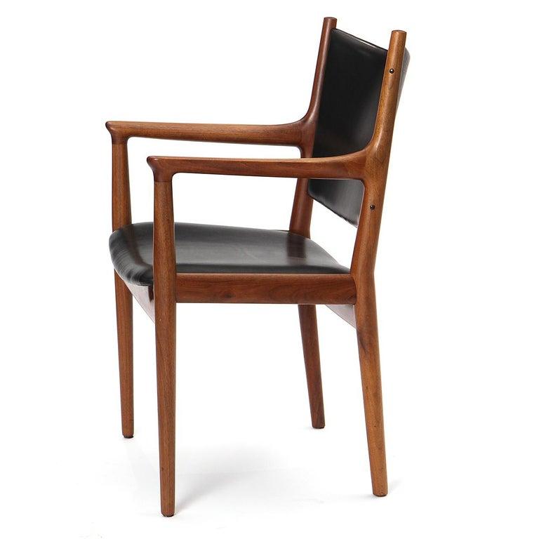1960s Danish Teak Dining Chair by Hans J. Wegner for Johannes Hansen In Good Condition For Sale In Sagaponack, NY