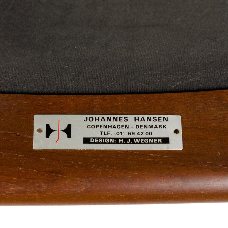 1960s Danish Teak Dining Chair by Hans J. Wegner for Johannes Hansen For Sale 1