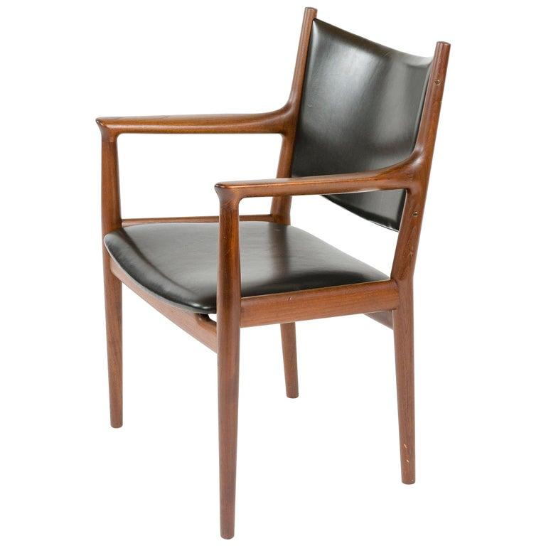 1960s Danish Teak Dining Chair by Hans J. Wegner for Johannes Hansen For Sale