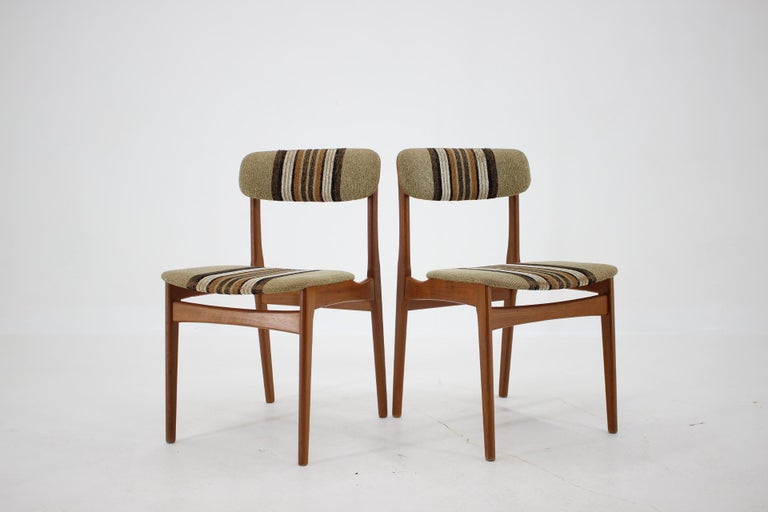 Mid-Century Modern 1960s Danish Teak Dining Chairs, Set of 4 For Sale