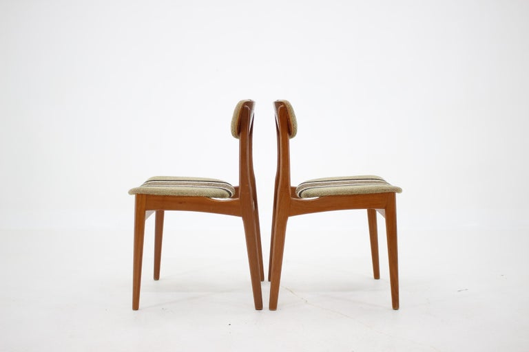 1960s Danish Teak Dining Chairs, Set of 4 In Good Condition For Sale In Praha, CZ
