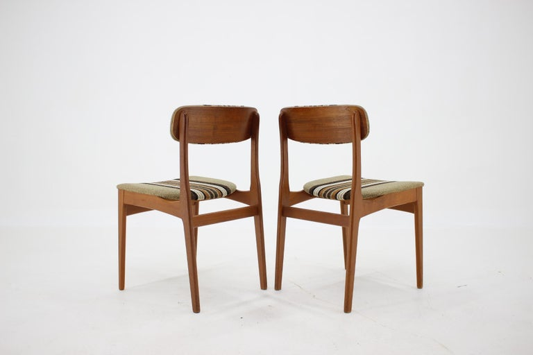 Mid-20th Century 1960s Danish Teak Dining Chairs, Set of 4 For Sale