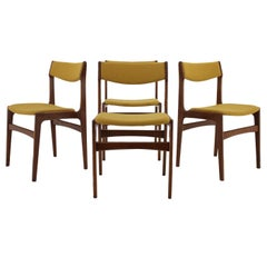 1960s Danish Teak Dining Chairs, Set of 4