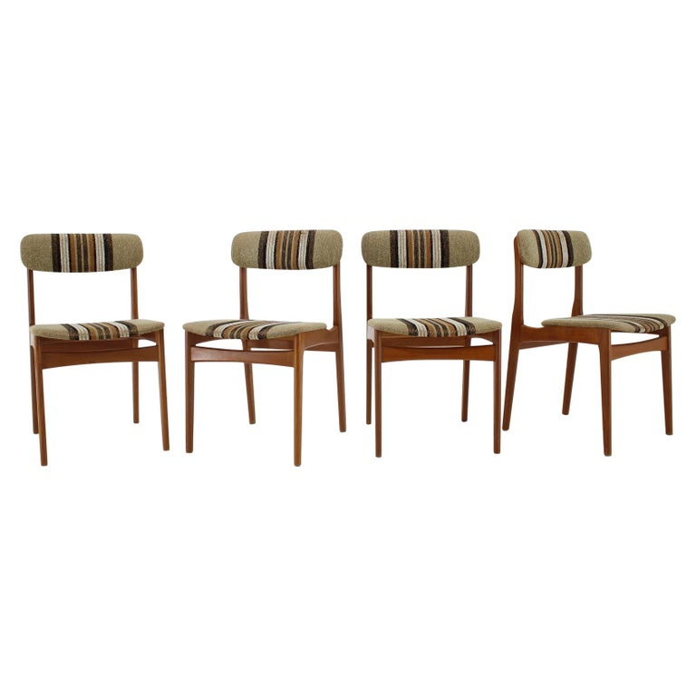 1960s Danish Teak Dining Chairs, Set of 4 For Sale