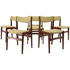 1960s Danish Teak Dining Chairs, Set of 6