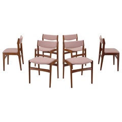 1960s Danish Teak Dining Chairs, Set of 6