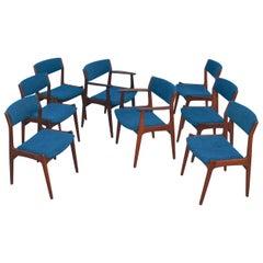 1960s Danish Teak Dining Chairs, Set of 8