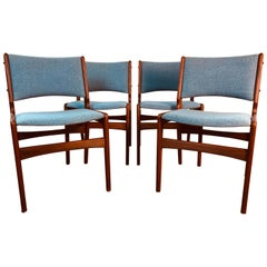 1960s Danish Teak Dining Room Chairs, Set of 4