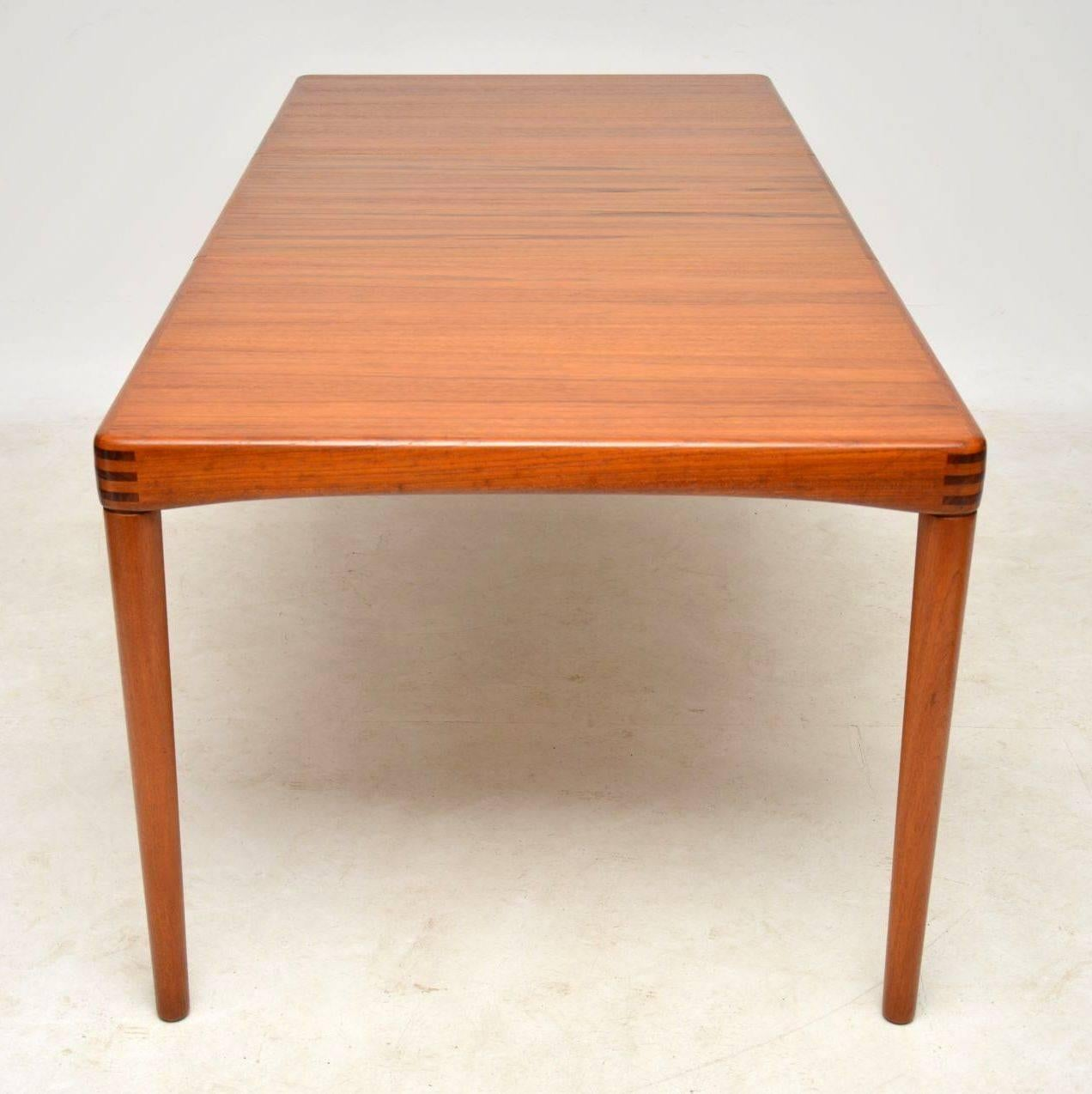 Mid Century Modern 1960s Danish Teak Dining Table By H.W Klein For Bramin  For Sale