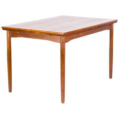 1960s Danish Teak Dining Table Extandable for Randers Møbelfabrik