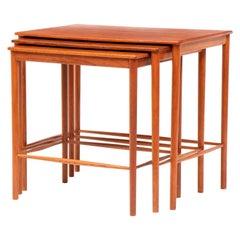 1960s Danish Teak Kai Winding Nest of 3 Tables for Poul Jeppesens Møbelfabrik