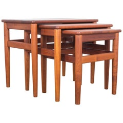 1960s Danish Teak Nesting Tables, Set of Three