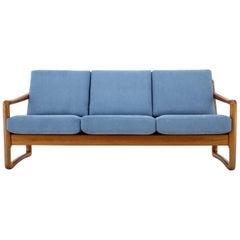 1960s Danish Teak Organic 3-Seat Sofa