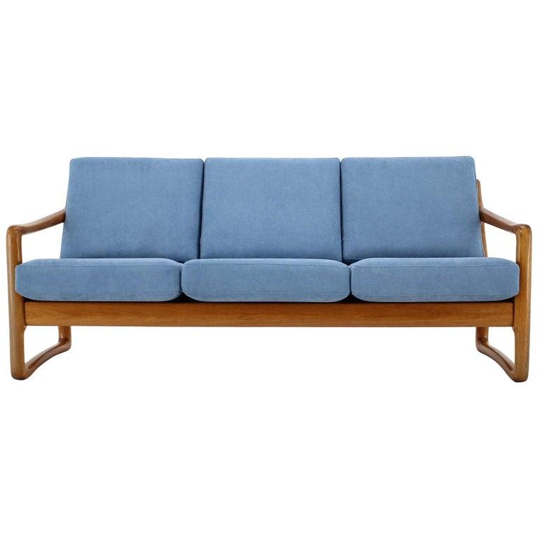 1960s Danish Teak Organic 3-Seat Sofa For Sale