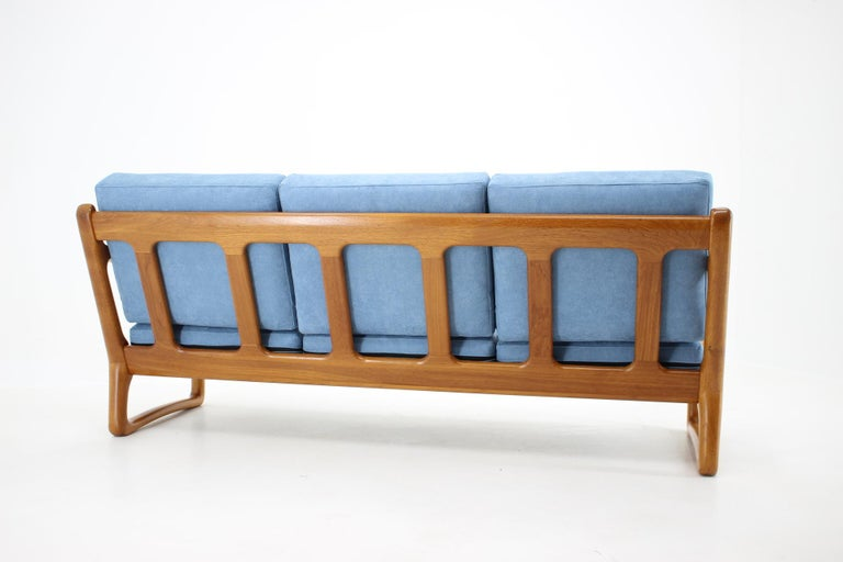 Mid-20th Century 1960s Danish Teak Organic 3-Seat Sofa For Sale
