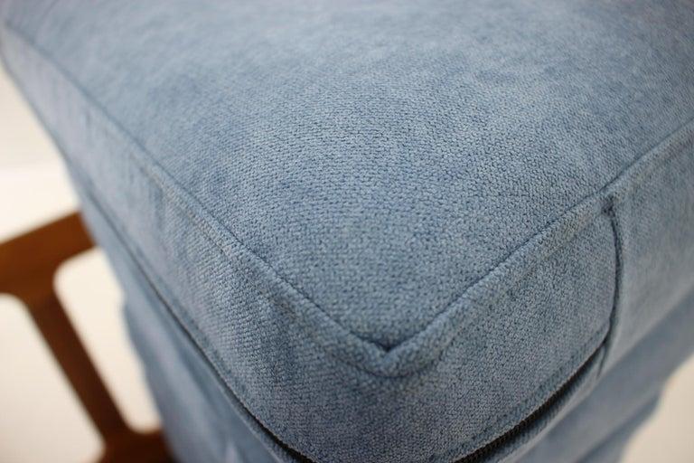 1960s Danish Teak Organic 3-Seat Sofa For Sale 1