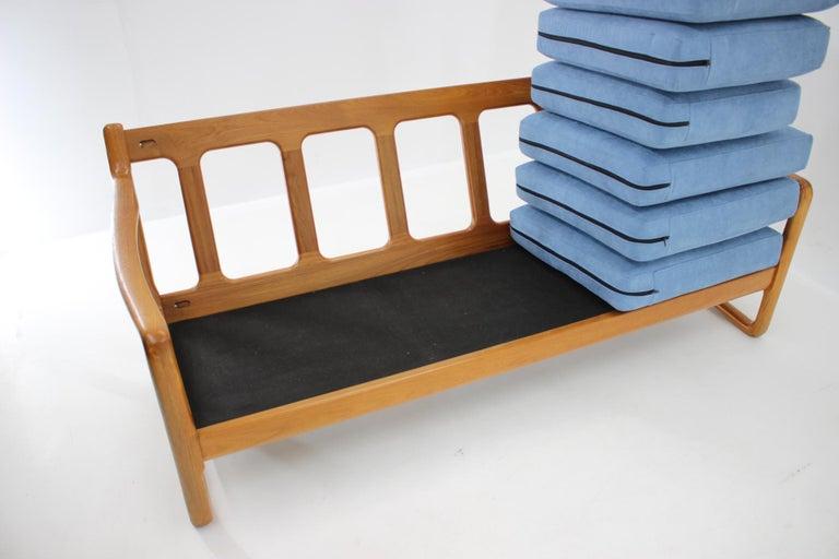 1960s Danish Teak Organic 3-Seat Sofa For Sale 2