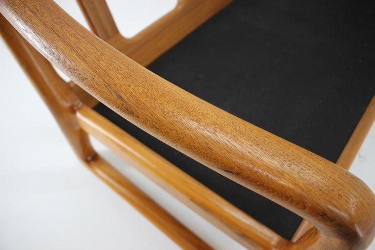 1960s Danish Teak Organic 3-Seat Sofa For Sale 3