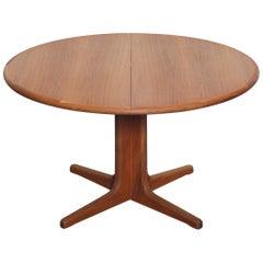 1960s Danish Teak Round Pedestal Dining Table