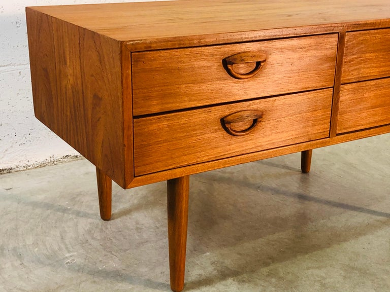 1960s Danish Teak Storage Cabinet In Good Condition For Sale In Amherst, NH