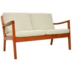 1960s Danish Teak Vintage 2-Seat Sofa by Ole Wanscher
