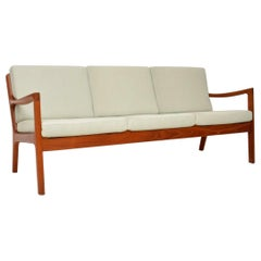 1960s Danish Teak Vintage 3-Seat Sofa by Ole Wanscher