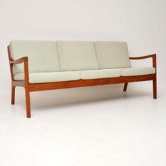 1960s Danish Teak Vintage 3-Seat Sofa by Ole Wanscher