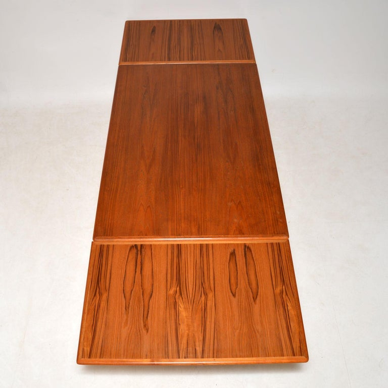 Mid-20th Century 1960s Danish Teak Vintage Dining Table For Sale