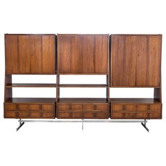 1960s Danish Teak Wall Unit