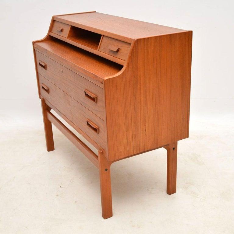 1960s Danish Teak Writing Bureau By Arne Wahl Iversen For