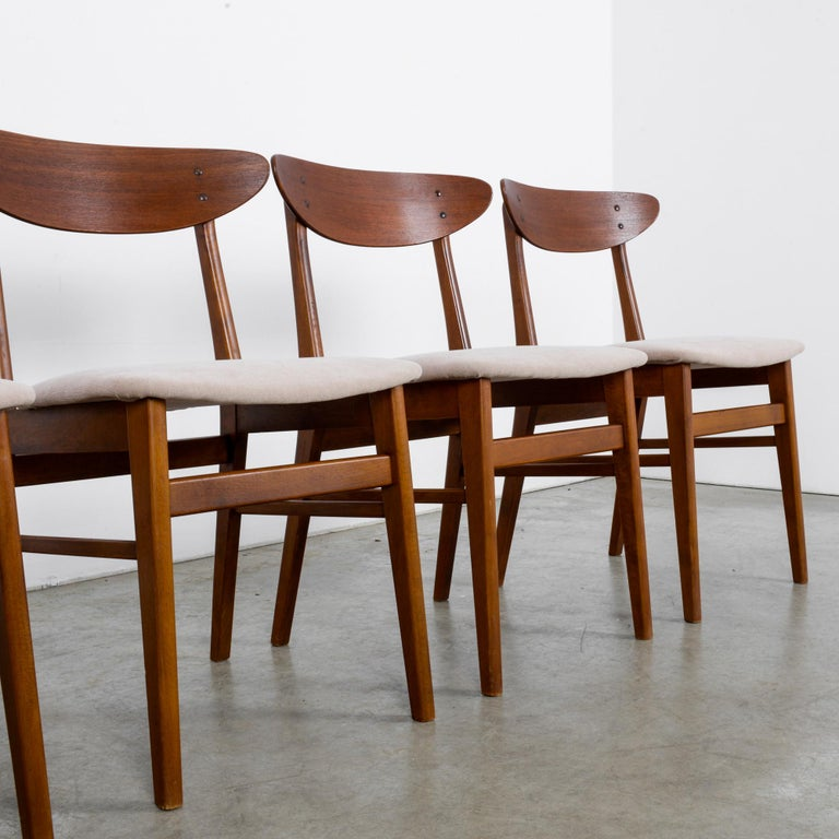 1960s Danish Upholstered Teak Chairs, Set of Four For Sale 5