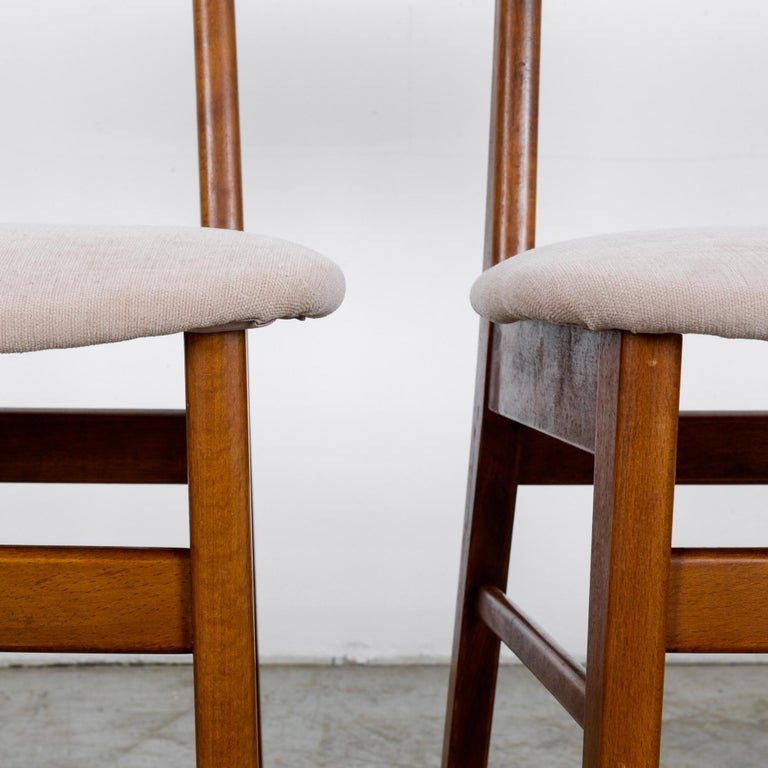 1960s Danish Upholstered Teak Chairs, Set of Four For Sale 6