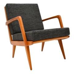 1960s Danish Vintage Cherrywood Armchair