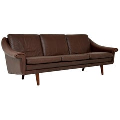 1960s Danish Vintage Leather Sofa