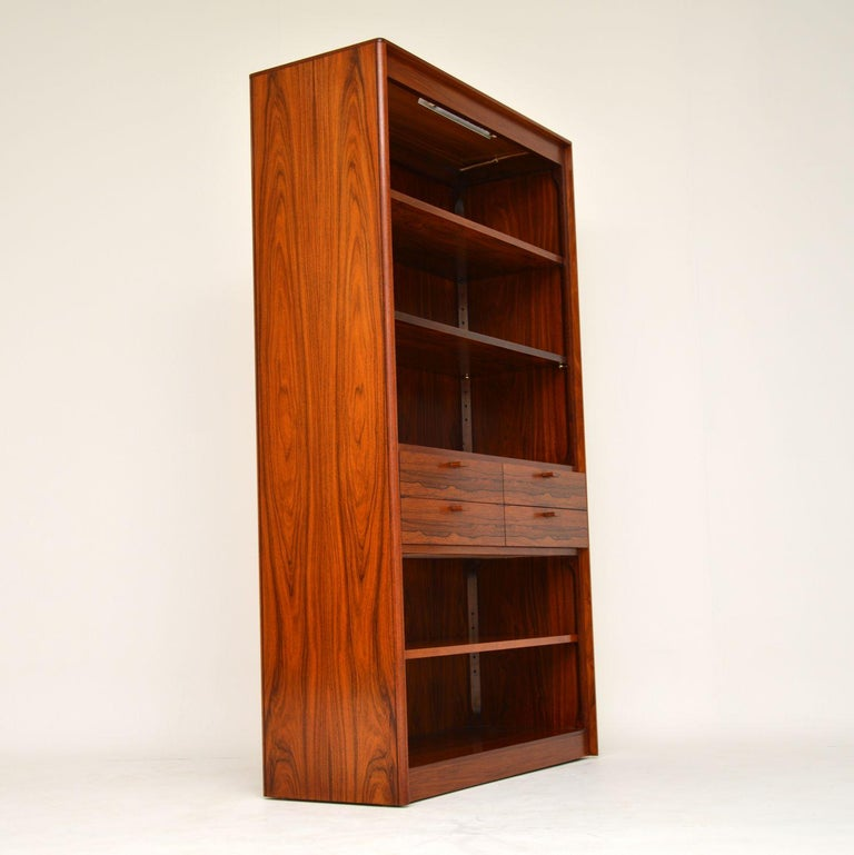 1960s Danish Vintage Midcentury Bookcase For Sale 4