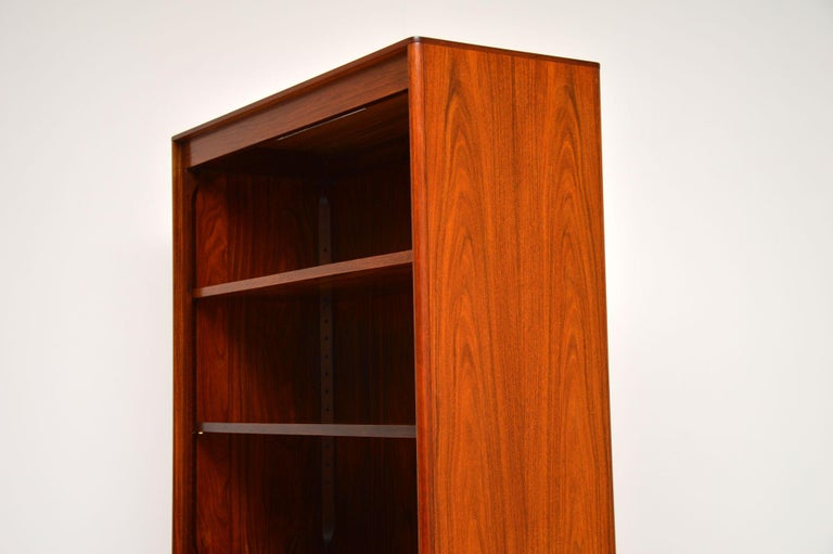 1960s Danish Vintage Midcentury Bookcase For Sale 5