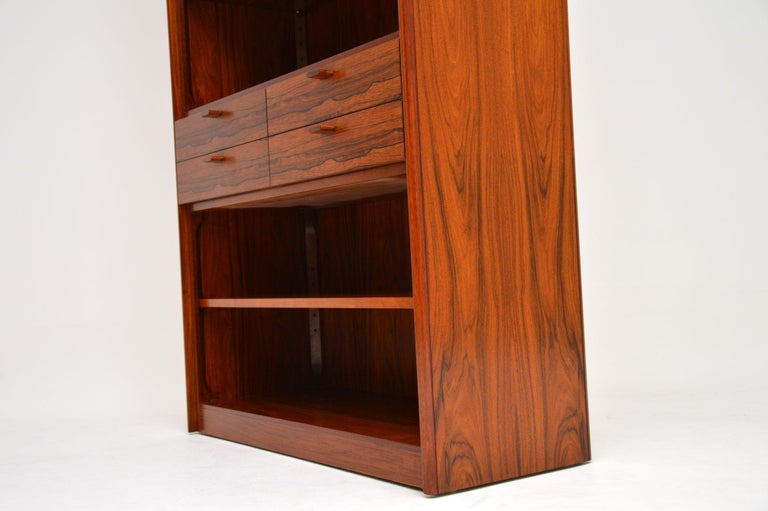 1960s Danish Vintage Midcentury Bookcase For Sale 6