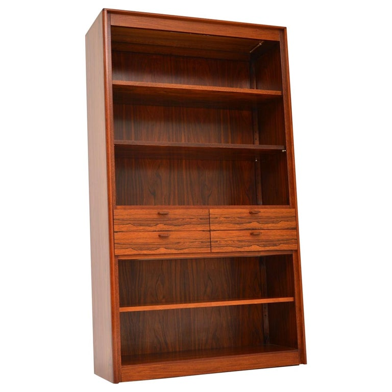 1960s Danish Vintage Midcentury Bookcase For Sale