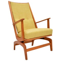1960s Danish Vintage Oak Rocking Chair