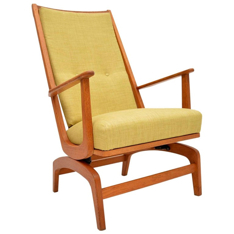 Miraculous 1960S Danish Vintage Oak Rocking Chair At 1Stdibs Machost Co Dining Chair Design Ideas Machostcouk
